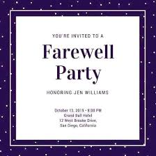 Free Going Away Party Invitations Farewell Party Invitations Invitation Template For Seniors