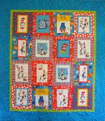 Dr Seuss Quilt: cute and simple pattern, I especially like since I ... & Cat in the Hat Quilt! Adamdwight.com