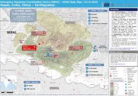 nepal, india, china earthquakes echo daily map 27 4 2015 Nepal India Map Nepal India Map #36 nepal india border map