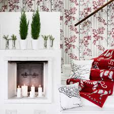 Red Wallpaper Designs For Living Room Luontopolku By Vallila Red Wallpaper Direct
