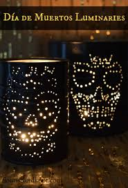 How to make Day of the Dead (Halloween) luminaries out of tin cans  