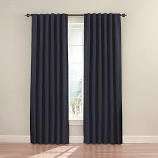 Amazon.com: Eclipse 11353052X084DKB Fresno 52-Inch by 84-Inch Blackout  Single Window Curtain Panel, Dark Blue: Home & Kitchen