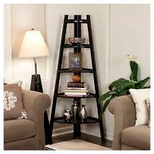 Five Tier Corner Ladder Display Bookshelf