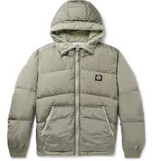 Mens Designer Clothes Sale Stone Island Quilted Ripstop Hooded Down Jacket