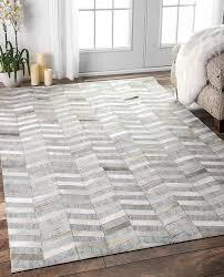 a ordable nuloom 8x10 rugs com 8 x 10 handmade cowhide mitch rug in silver