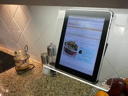 Kitchen Tablet Holder Amazoncom The Original Patented Kitchen Ipad Rack Holder For