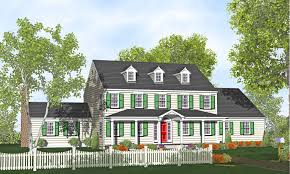 Colonial Two Story Harcourt Home Plans for Sale   Original Home Plans Story Colonial Home Plan