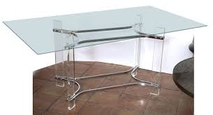 lucite console table. Charles Hollis Jones Glass And Lucite Console Table A