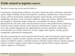 ... 18. Fields related to logistics career: ...