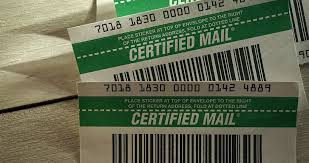 how to send a certified letter in four