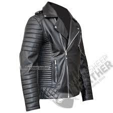 men s brando biker style leather fashion jacket