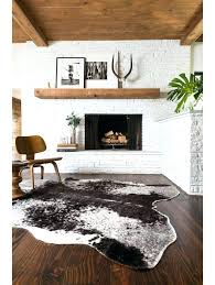 cow print rug brown cow print rug rugs grand canyon faux hide within ideas print cow print rug