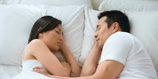 Lovely Couple In Bed Lying In Bedroom 9 Couples Sleeping Positions And Their Hidden Meanings