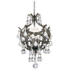crystorama lighting group english bronze wood crystal mini chandelier