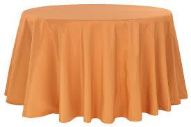 polyester 120 round tablecloth burnt orange