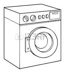 washing machine clipart black and white. washing machine: machine, vector illustration machine clipart black and white n