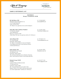 Example Resume Formats Amazing Gallery Of Resume References Format Example Awesome Reference Sheet