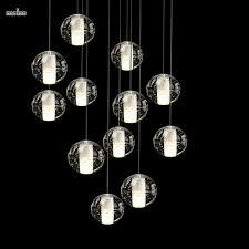 modern magic ball led crystal bubble glass pendant light for