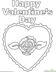 Besides being fun for the kids to color, when they're done they make great gifts for. Happy Valentine S Day Worksheet Education Com