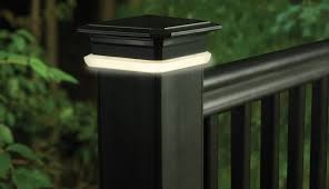deck accent lighting. TimberTech Deck Post Cap Lights - View 1 Accent Lighting
