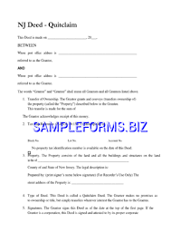 new jersey deed form new jersey quitclaim deed form 2 pdf free 1 pages