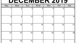 2019 Calendar Excel