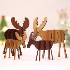 diy wooden elk ornaments decoration ornaments children s gifts for home bars ping malls festive pendant outdoor holiday decorations