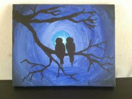painting love birds by night by rickjkverhagen