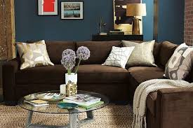 Blue walls brown furniture Baby Blue Love The Blue Walls And Brown Couch So Warm And Cozy Pinterest The Virtues Of Clear Décor For The Home Pinterest Room Living