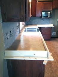 pour in place concrete countertop forms poured cast edge diy