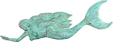 inspiring ideas mermaid wall decor marvellous inspiration hanging bronze mermaids signs gifts home fountains plaque