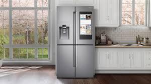 Samsung Family Hub - Modern Kitchen with Samsung Family Hub Fridge Silver