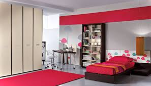Astounding Bedroom Ideas For Teenage Girls With Red Colors Theme And