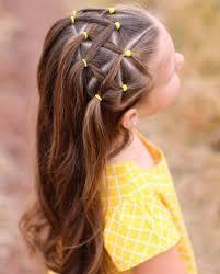 Coiffure Fillette élastiques Jaunes Hairstyles Girl Beaut