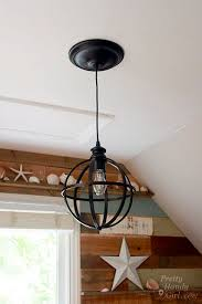 recessed lighting to pendant. Convert A Hole In The Ceiling From Recessed Lighting To Pendant: Converter Kit By Pretty Handy Girl Pendant C