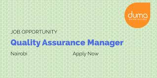 Job Vacancy Quality Assurance Manager Duma Works Blog