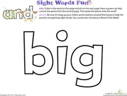 Small Picture Decorate the Sight Words Preschool Coloring Pages Educationcom