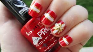 gift knot nail art Christmas - Zestymag