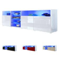 Tv Stand Unit Lowboard Cabinet Granada V2 White High Gloss