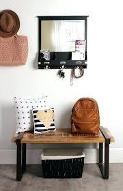rustic wall organizer x decorative wood home metal mail holder key leash file box m