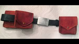 how to make leather pouches belt bags