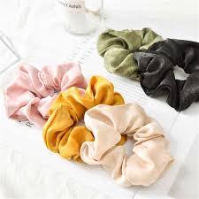 1PC Fashion Solid Color Satin <b>Hair</b> Rope Ties For Girls <b>Women</b> ...