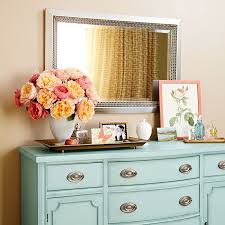 tropical painted furniture. loweu0027spaint colors painted dresser and mirror valspar signature paint in tropical bay furniture i