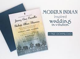 Online Invitations Templates Printable Free Best Free DIY Modern Indian Wedding Invitation Download Print