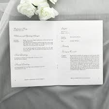 Wedding Ceremony Brochure White Modern Wedding Ceremony Booklet