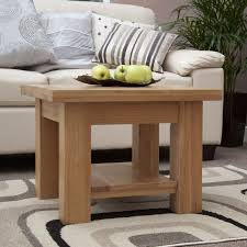kingston solid oak living room lounge furniture small square coffee table
