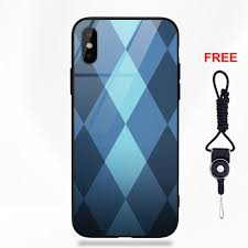 Light Blue Apple Case Us 3 99 Light Blue Plaid Printed For Apple Iphone 5 5c 5s Se 6 6s 7 8 Plus X Xs Max Xr Soft Tpu Frame Tempered Glass Fashion Case In Half Wrapped