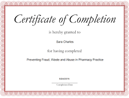 Completion Certificates Certificate Completion Certificates Templates Free