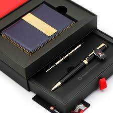 details about free engraving 24k gold mens leather money clips roller ball pen gift set