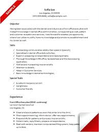 Sample Resume For Back Office Executive Cool Sample Resume Back